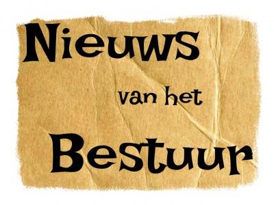 Nieuws van het bestuur